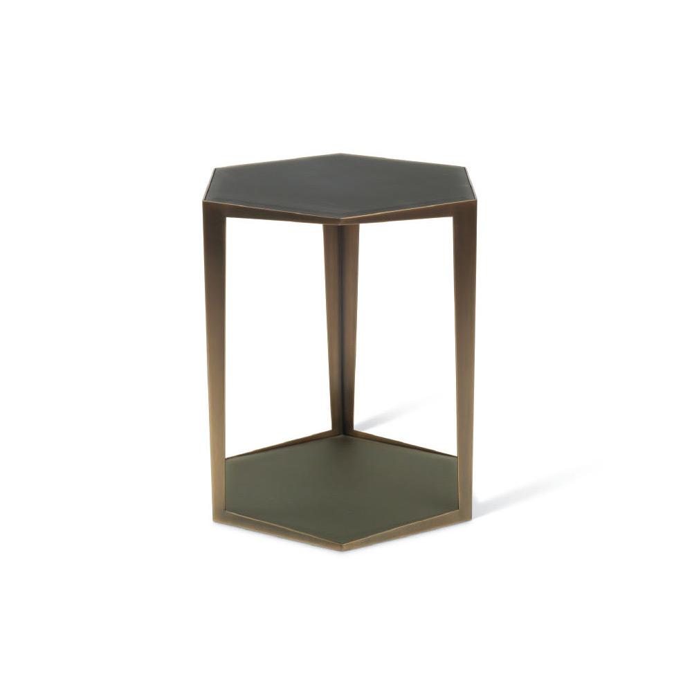 troscan gemma hexagonal side table