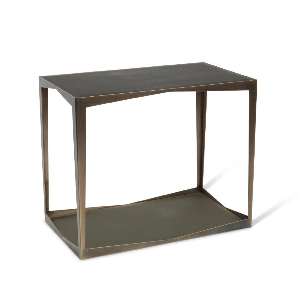troscan gemma rectangular side table
